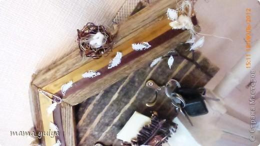 """приехала """"на деревню к дедушке""""смотрю -  забор старый снесли, распилили на дрова, в кучу сложили, сжечь хотят - ужас!!! а досочки такие красивые))) загляденье)))  захотелось что-то из них смастерить...слепила из того, что было под руками... фото 13"""