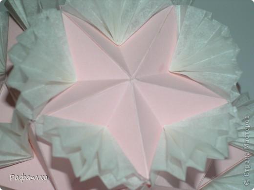 Designer: Tomoko Fuse Parts :30+30 Paper: 4*8 cm Joint: glue video: http://kusuda.ru/kusudamas/odna-iz-kusudam-tomoko-fuse Бумага офисная + пергамент Вдохновение искала здесь: http://stranamasterov.ru/node/193570 фото 5
