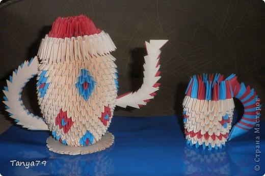 Этот чайничек с чашечкой сделала давно, но все некогда было выставить . Сегодня это сделала. фото 1