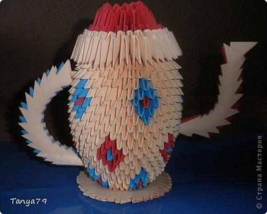 Этот чайничек с чашечкой сделала давно, но все некогда было выставить . Сегодня это сделала. фото 2