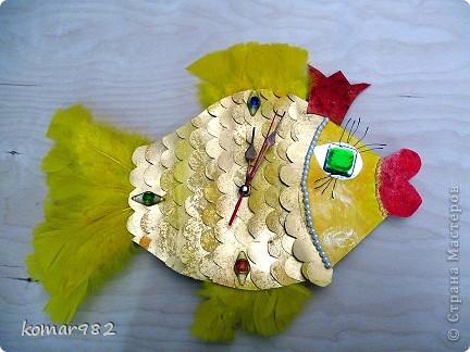 """Часики """"Золотая рыбка"""". И как любая Золотая рыбка эти часики не только умеют ходить, но и исполняют желания своего автора потрясающей Катюши фото 1"""