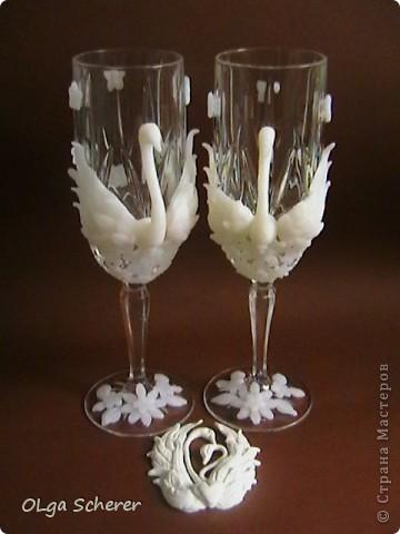 "Мои стаканчики""Лебединая пара"" фото 1"