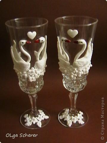 "Мои стаканчики""Лебединая пара"" фото 4"