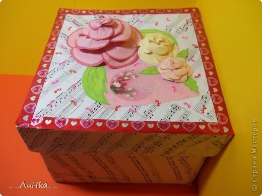 Здравствуйте!!! Вот моя первая подарочная каробочка)))) надеюсь, Вам понравится))) фото 1