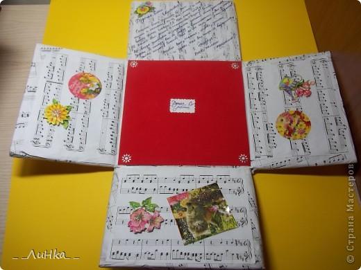 Здравствуйте!!! Вот моя первая подарочная каробочка)))) надеюсь, Вам понравится))) фото 3