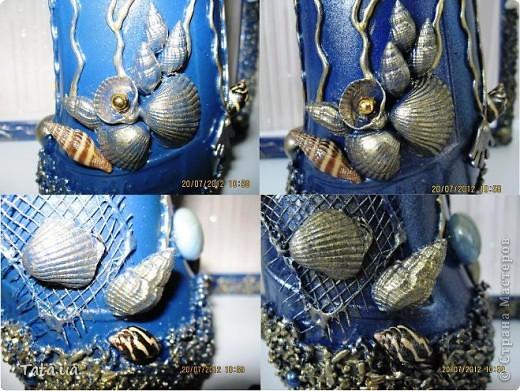 Доброго времени суток, дорогая Страна!!! Сегодня я к Вам с подарком для подруги- синяя морская бутылочка и фоторамочка, и для мамы- черная бутылочка. Снова воспользовалась идеей Оли  http://stranamasterov.ru/node/339980?c=favorite, а также Елены http://stranamasterov.ru/node/368042?c=favorite. Поводом послужило предстоящий день рождение подруги, и мое желание удивить маму. фото 5