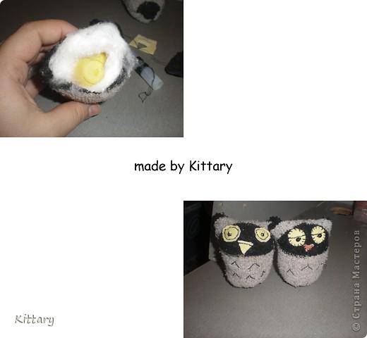Вот такие совушки из носочков детских, увидела изначально где-то на просторах интернета, исходный источник не найду, на авторство не претендую) фото 4