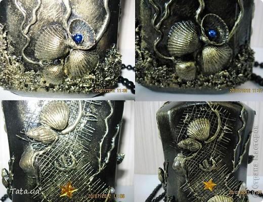 Доброго времени суток, дорогая Страна!!! Сегодня я к Вам с подарком для подруги- синяя морская бутылочка и фоторамочка, и для мамы- черная бутылочка. Снова воспользовалась идеей Оли  http://stranamasterov.ru/node/339980?c=favorite, а также Елены http://stranamasterov.ru/node/368042?c=favorite. Поводом послужило предстоящий день рождение подруги, и мое желание удивить маму. фото 14