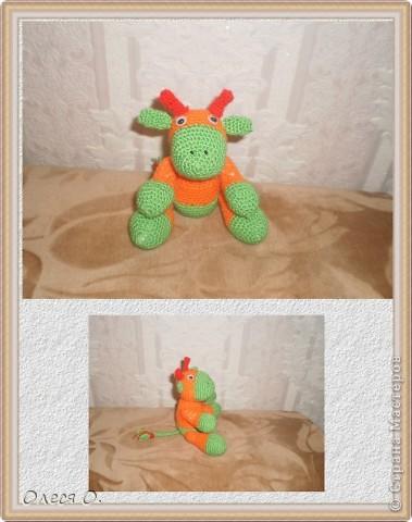 Игрушки связаны давно,еще в прошлом году.  Коровка-мой дебют в вязании игрушек. Пряжа-акрил. фото 1