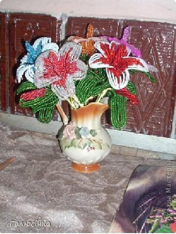 Квіточки з бісеру фото 3