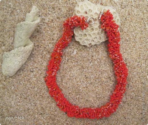 Попытка сделать что-то похожее на коралловые бусы )) фото 1
