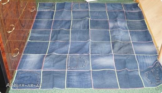 Хочу поделиться с идеей, как использовать старые джинсы! Сшила себе фартук, фасон придумала сама,теперь одеваю с удовольствием! фото 4
