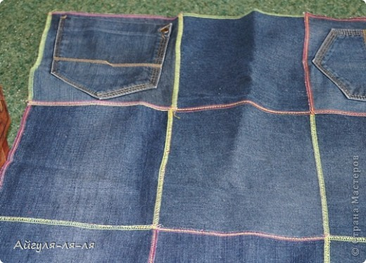 Хочу поделиться с идеей, как использовать старые джинсы! Сшила себе фартук, фасон придумала сама,теперь одеваю с удовольствием! фото 5