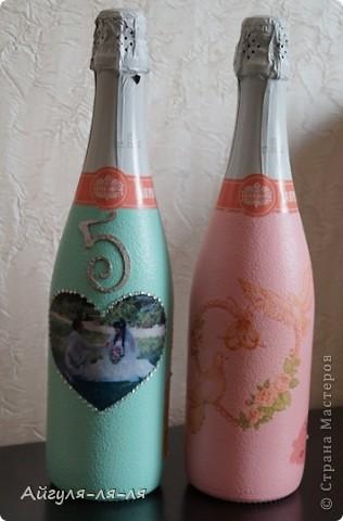 Как приятно собираться на свадьбу и готовить необычные сюрпризы для молодоженов! Решила им подарить бокалы и шампанское, в такой нежной теме мишки тедди! фото 11