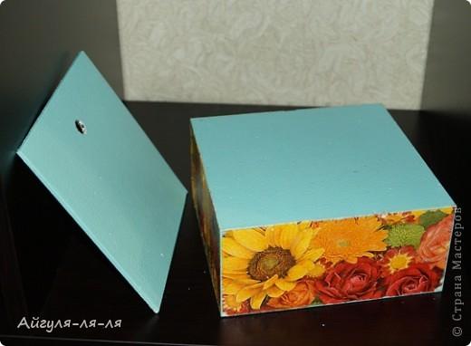 Здравствуйте, талантливые мастерицы! Осуществила свою маленькую мечту,теперь мой чай хранится в такой яркой коробки!!! фото 5