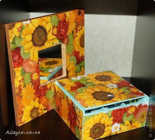 Здравствуйте, талантливые мастерицы! Осуществила свою маленькую мечту,теперь мой чай хранится в такой яркой коробки!!! фото 7