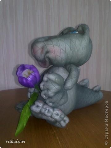 Доброго времени суток дорогие мастерицы! Представляю Вашему вниманию мои первые работы. Благодаря http://stranamasterov.ru/node/256599, на основе Дракончика, я сделала крокодильчика. Спасибо большое Акуловой Елене за Мастер-клас. фото 3