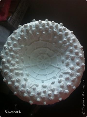 Декор предметов Бумагопластика Кружева в пейп-арте Мини-МК Бутылки стеклянные Клей Салфетки фото 4