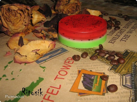 Мыло ароматное со вкусом арбузика. фото 1