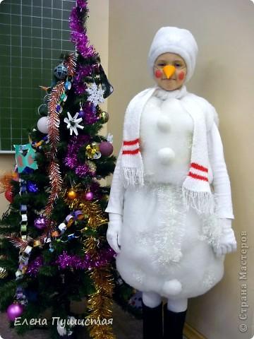 Вот такого снеговичка я слепила.