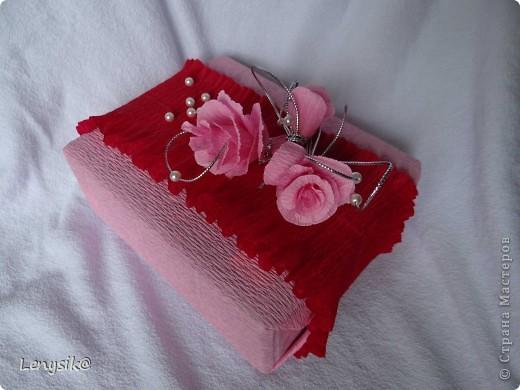 Подарок на свадьбу куплен, в обычной коробочке. а так хочется чтобы глядя на него глаза загорелись у молодоженов с интересом- а что же там внутри? налюбовавшись на работы в стиле свит-дизайн, решила оформить упаковочку именно так. фото 1