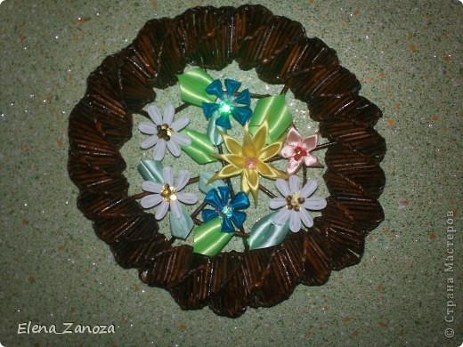 Вот такой букетик из полевых цветов расцвел к дню рождения моей снохи Юленьки.