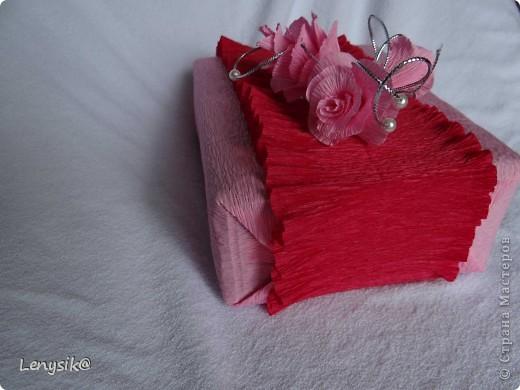Подарок на свадьбу куплен, в обычной коробочке. а так хочется чтобы глядя на него глаза загорелись у молодоженов с интересом- а что же там внутри? налюбовавшись на работы в стиле свит-дизайн, решила оформить упаковочку именно так. фото 11