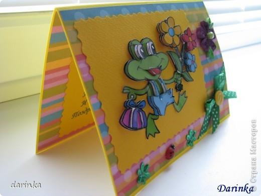 Здравствуйте!!!! Вот такая летняя и весёлая открыточка получилась у меня фото 2