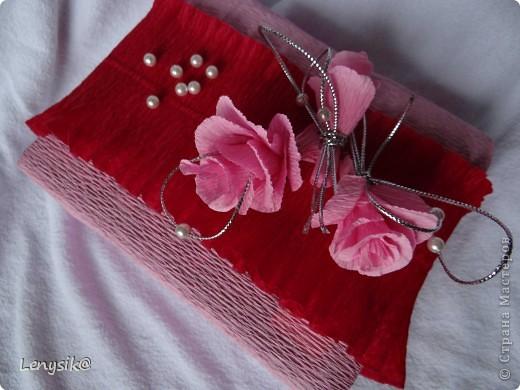 Подарок на свадьбу куплен, в обычной коробочке. а так хочется чтобы глядя на него глаза загорелись у молодоженов с интересом- а что же там внутри? налюбовавшись на работы в стиле свит-дизайн, решила оформить упаковочку именно так. фото 5