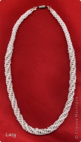 Спиральные жгуты из бисера со схемой плетения. фото 5