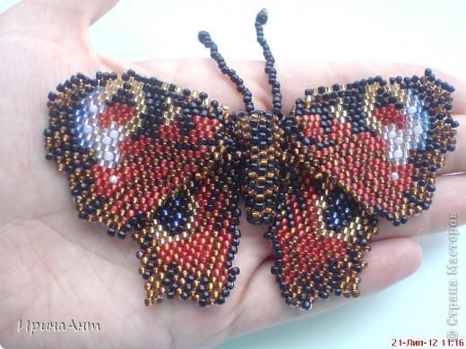 За первой бабочкой на одном вдохновение сплела вторую, и вот за неделю нашла время выложить свою роботу. фото 2