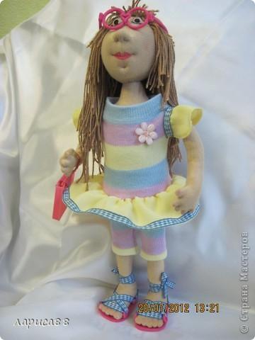 Моя первая куколка из трикотажа. Юля - выбражуля. фото 9