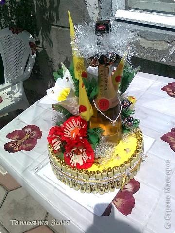 Мой первый тортик ко Дню рождения сестре фото 9