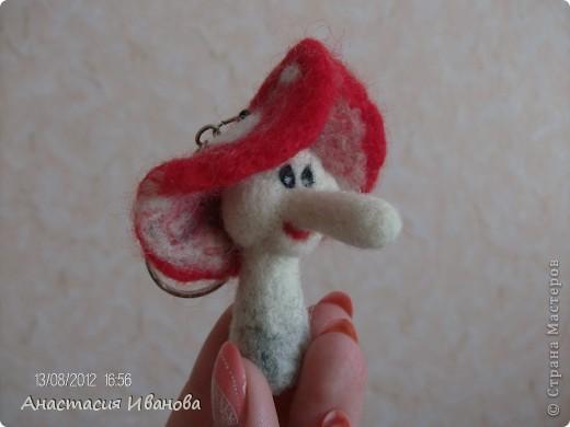 Мухоморчик без шляпки 5,5 см, со шляпкой 8 см фото 1