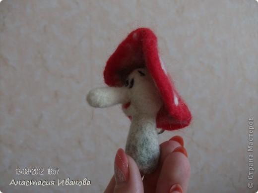 Мухоморчик без шляпки 5,5 см, со шляпкой 8 см фото 3