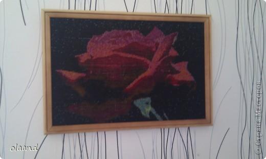 "Картина вышитая бисером ""Роза"" фото 1"