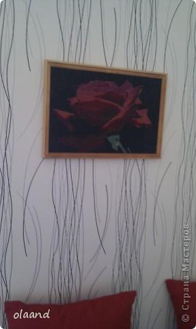 "Картина вышитая бисером ""Роза"" фото 2"