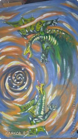 картина была написана в 2000 году, одна из первых работ написанная маслом