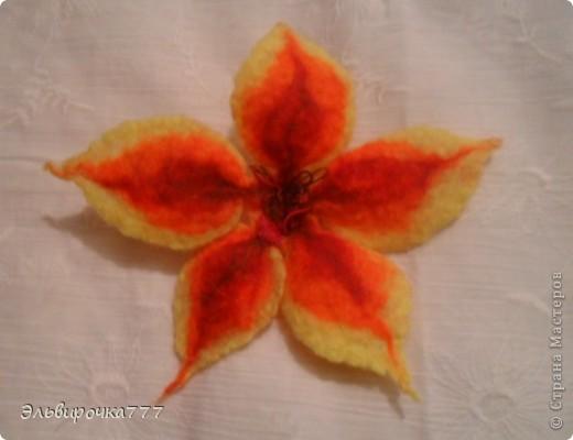 Моя первая работа в технике валяние! Создавалась специально для мамочки!Цветок-брошь можно носить отдельно.  фото 4