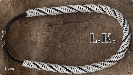 Спиральные жгуты из бисера со схемой плетения. фото 3