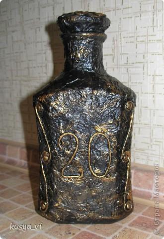 """Бутылка, видимо """"пейп - арт"""" :-) фото 2"""