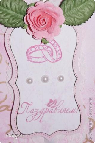 Сезон свадеб объявлен открытым! Подготовка  к свадьбам идет полным ходом. Сегодня я с нежно-розовым набором, в котором 2 открытки и конвертик. фото 8
