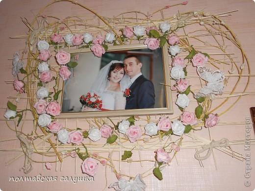 Эту подушечку шила на свадьбу дочери 1.5 года назад. Выставляю сейчас, потому что только вспомнила про неё... фото 3