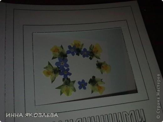 Вот такие необычные, парящие в воздухе, прозрачные композиции из цветов и листиков. С лёгкой руки Марины , назвала это направление в плоскостной флористике  ---  ЛАМИ-АРТ фото 7