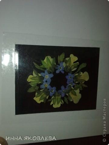 Вот такие необычные, парящие в воздухе, прозрачные композиции из цветов и листиков. С лёгкой руки Марины , назвала это направление в плоскостной флористике  ---  ЛАМИ-АРТ фото 12