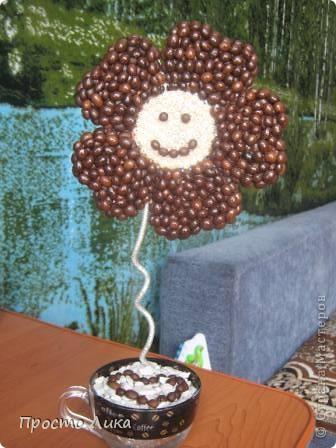 Кофейный топиарчик и рамочка  фото 5