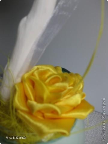Здравствуйте! Это мой любимый топиарчик с розами цумами канзаши.  фото 3
