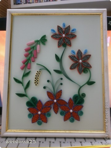 Quilled flowers фото 1