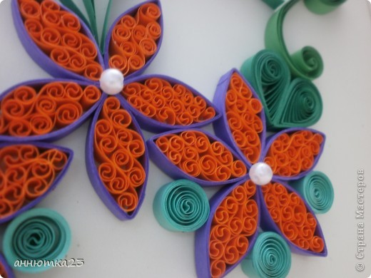 Quilled flowers фото 2