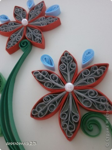 Quilled flowers фото 3